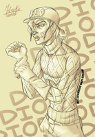 Diego Brando, the stylish dino by mayoku-artz