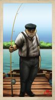 :: Fisherman by redpoio