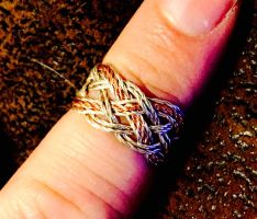 Copper and Argentium ring by chainemaile