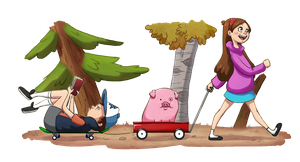 Gravity Falls Art Collab by Humming-Fly