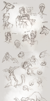 Sketchdump: imps, angry faces, and more by Wolfy-T