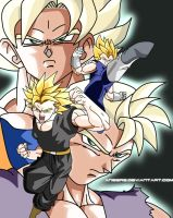 Legendary Saiyans by angers