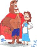 Cartoons Belle And Beast by Dream-Angel-Artista