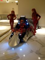 Katsucon 2014: 3 Asukas and the eva pod by SpikeJet2736