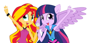 Sunset and Twi by Xsecretgirl