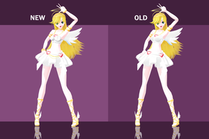 Angel Panty - Update Comparison by kinoko-hiou