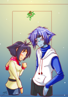 Slayers -Xmas Amelia and Zel by Sanoshi