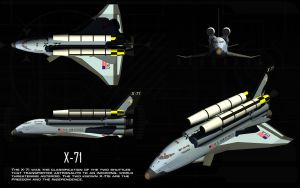 X-71 Military Shuttle ortho by unusualsuspex