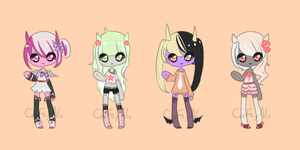 Tiny Demon meps [CLOSED] by TeaLattes