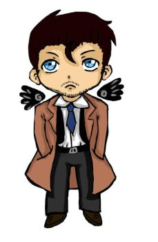 Castiel chibi (bookmark) by SHAWTYBOOSTER