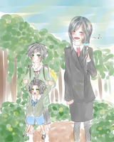 SG: Event 1- a stroll to school by xSeiGax