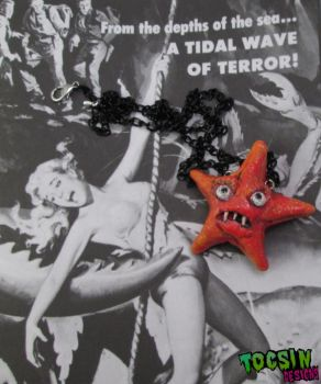 Starfish Monster Necklace by TocsinDesigns
