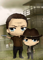 The Walking Dead - Rick and Carl by Mibu-no-ookami