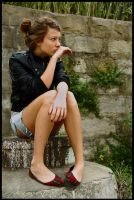 Marie - pensive 1 by wildplaces