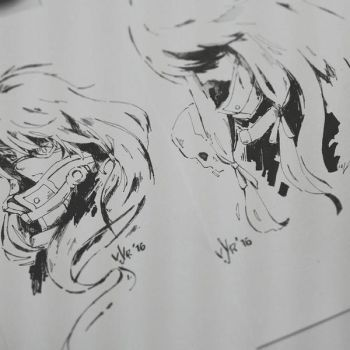 Traditional Ink Art by Vyrhus