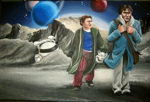 Hitchhiker's Guide to Galaxy by Chemartist