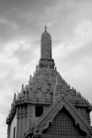 Black and White Temple by skadieverwinter