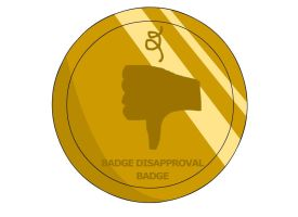 Badge Disapproval Badge by RyuPointGame