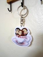 the phantom of the opera fan art arylic keychain by poperart