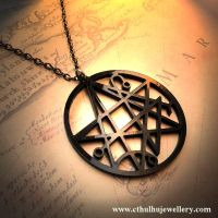 Necronomicon Gate Necklace by CthulhuJewellery