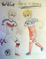 World Cup 2014 America vs Germany by Origamigirl1223