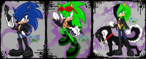 Scourge the hedgehog Evolution by Scourge157