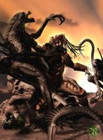 Aliens Vs. Predator by Dark-Elf-Designs