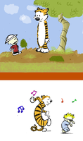 Calvin and Hobbes by Anubis84