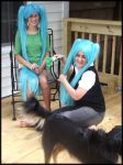 Miku Hatsune And Miku Hatchune-NO LEEK FOR DOGGY by PrincessShiera