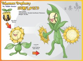 Sunflorid Evolution of Sunflora by lanceofdragon