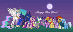 MLP: New Year's Celebration by EmeraldBlast63