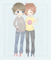 C: Toby and Marco by Cheriin