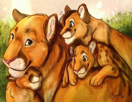 : Cougar family : by GaruryKai