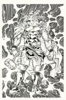 Thor Pinup Inked by xaqBazit