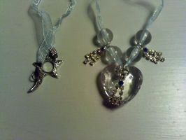 Ice Heart Necklace by GothicDorothy