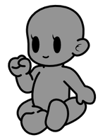 Paper Mario Base- Female- Baby by Cross-Cresent-Creed