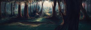 Forest, concept art by Iselinka