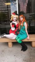 Poison Ivy and Harley Quinn 2 ACen 2015 by Teddy-sol