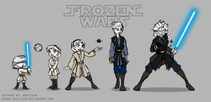 Frozen Wars - Elsa's Transition by Niban-Destikim