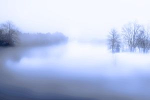 Misty Lake by samkennedy