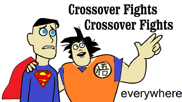 Goku and Superman Crossover Fights Everywhere by KeybladeMagicDan