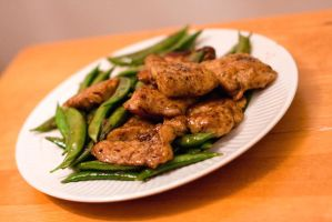 Sole Fillets with Green Beans by pommegenozide