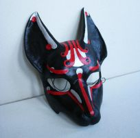Black and Red Kitsune mask by nondecaf