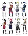 Naruto Oc Adoptables Open 60 Points by 9afeyah