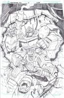 Transformers Robots in Disguise 10 cover pencils by MarceloMatere