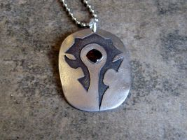Horde Necklace - White Bronze by Peaceofshine