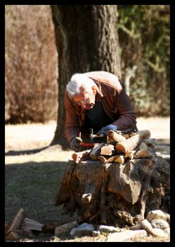 Old man working by GonBo