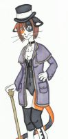 Commission: Steampunk kitty by cqmorrell