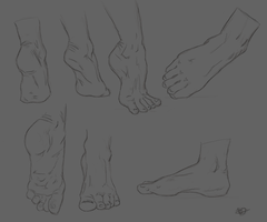 Foot practice. by kaps-world