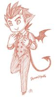 Demon!Apollo sketch by roseannepage